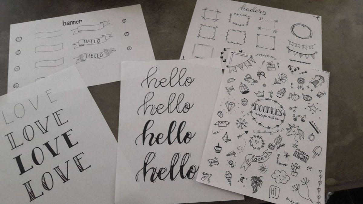 Workshop handlettering, creatief letters tekenen. Voor kinderen en volwassenen 8 december Bibliocenter Weert