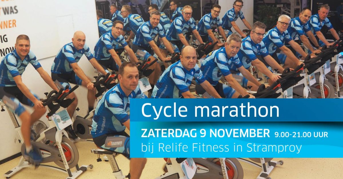 Zaterdag 9 november 2019: Lustrumeditie Cycle Marathon