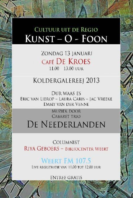 Live uitzending Kunst-O-Foon
