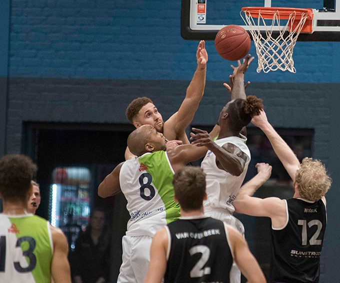 Eredivisie basketbalwedstrijd BAL –Donar Groningen