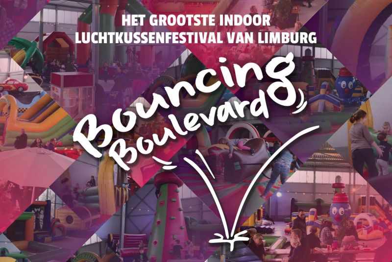 Luchtkussenfestival Bouncing Boulevard