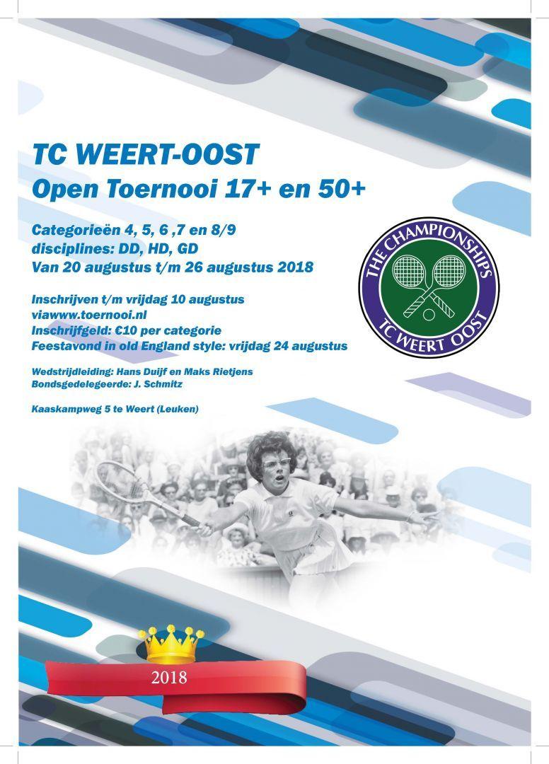 TC Weert-Oost Open Jubileum Toernooi 2018