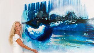 expositie schilderijen Mathilde Pil Regen in Rio