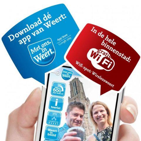 Stads-app en gratis WiFi in binnenstad Weert